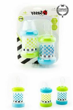 Baby Cereal Feeder Bottles Food Nurser Sassy Baby Set of 2 C