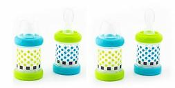 Baby Cereal Feeder Bottles Food Nurser Feeding Silicone Spoo