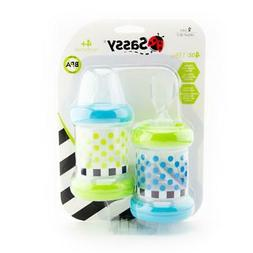 Baby Cereal Feeder Bottles Food Nurser Sassy Set of 2 Count