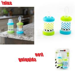 Baby Food Cereal Feeder Bottles Set Of 2 With Spoon & Nipple