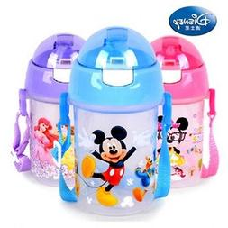 Baby Kids Children Disney Feeding Drinking Water Straw Bottl