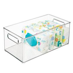 mDesign Stackable Storage Organizer Container Bin with Handl