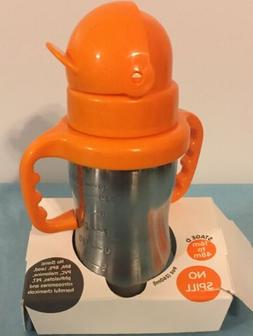 baby ster steel straw bottle 9oz bpa