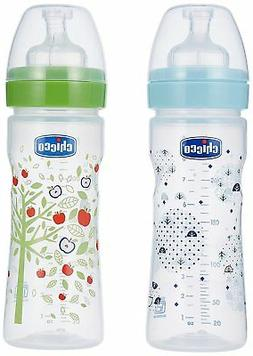 bi pack blue and green feeding bottle