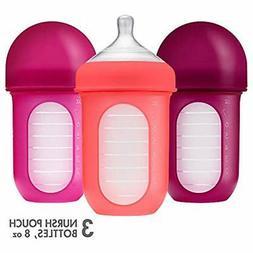 Boon, Bottles NURSH Reusable Silicone Pouch Bottle, Air-Free