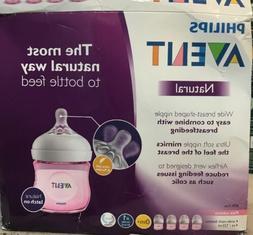 Philips Avent Natural Baby Bottle, Pink, 4oz, 4pk, SCF010/48
