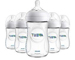 Philips Avent Natural Baby Bottle, Clear, 9oz, 5pk, SCF013/5