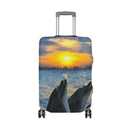 ALAZA Bottle Nosed Dolphins Elastic Travel Suitcase Protecto