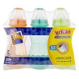 Nuby 3 Pack Bottles, 10 Ounce