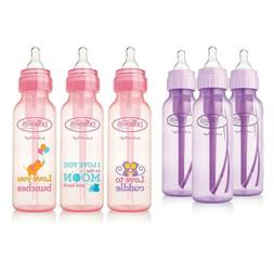 Dr. Brown's Baby Bottles Girls 6 Pack - 3  Lavender and 3  P