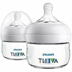 Bottles Philips Avent Natural Baby Bottle, Clear, 2oz, 2pk,