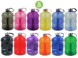 BPA Free 1 Gallon Water Bottle Steel Cap Drinking Canteen Ju