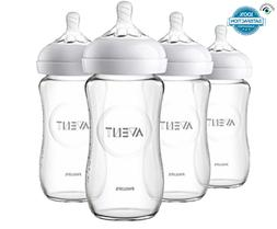 Philips Avent BPA FREE Natural Glass Baby Bottle 8oz 4pk, He