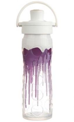 Lifefactory 22-Ounce BPA-Free Glass Water Bottle with Flip C