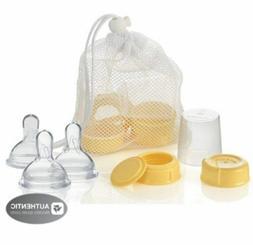 Medela Breastmilk Bottle Spare Parts with 3 Slow-flow Wide B