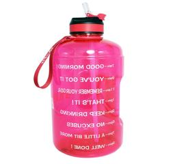 BuildLife Gallon Water Bottle with Motivational Time Marker,