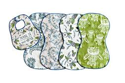 Imperfect Penelopy Burp Cloth Woodland Dream 5 Pack- 4 Doubl