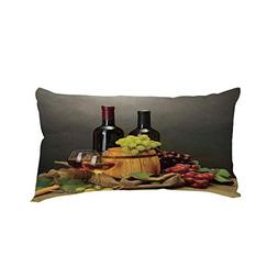 iPrint Car Neck Pillow,Winery Decor,Barrel Bottles and Glass