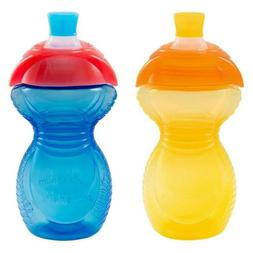 Munchkin Click Lock Bite Proof Sippy Cup, Yellow/Blue, 9 Oun