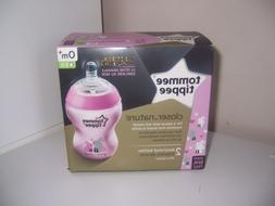 Tommee Tippee closer to nature pink baby bottles 2 9 oz bott