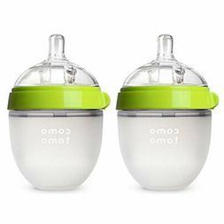 Comotomo Baby Bottle, Green, 5 Ounce