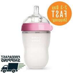 Comotomo Baby Bottle, Pink, 8 Ounce