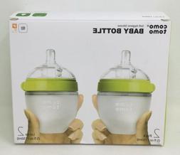 Comotomo Slow Flow Anti-Colic BPA Free Baby Bottles Green 5