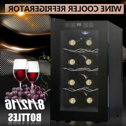 Compact Wine Cooler Refrigerator 8 12 16 Bottle Bar Ventilat