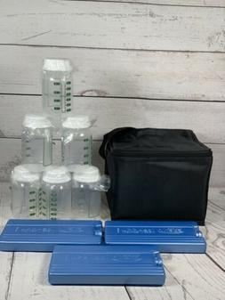 AMEDA Cool N Carry 6 Bottles 3 Freezer Packs And Cooler Tote