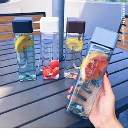 Cute New Square Tea Milk Fruit Water Cup 500ml for Water <fo