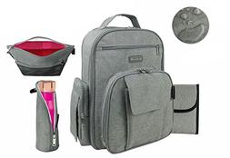 Diaper Bag Backpack by Mr. Peanut's, Multi Function Unisex D