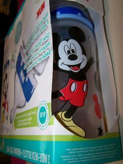 NUK Disney Baby 3-PK 10oz Wide Neck Bottles Mickey Mouse Sil
