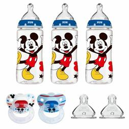 NUK Disney Baby Bottle, Mickey Mouse, 10oz 3pk-2pk Ortho Pac