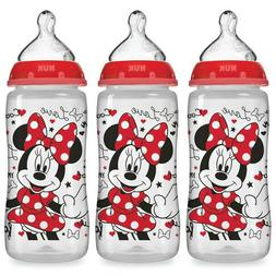 NUK Disney Baby Bottle, Minnie Mouse, 10oz 3pk New Free Ship