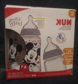 Nuk Disney Mickey Mouse 10 oz Silicone Orthodontic Baby Bott