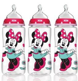NUK Disney Orthodontic Bottles Minnie Mouse 3 Pack 10oz