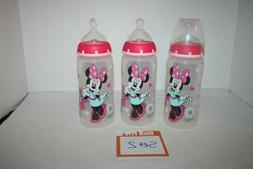 NUK Disney Wide Neck Orthodontic Bottles Minnie Mouse 3 Pack