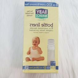 Baby Basics Disposal Bottle Liners 100 Liners 8 fl oz Ready-