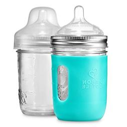 8 oz. Mason Bottle DIY Kit: BPA-Free Glass Baby Bottles You