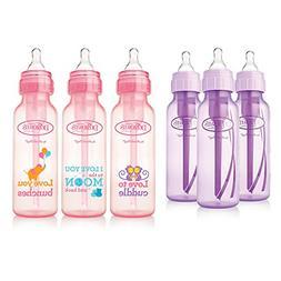 Dr. Brown's Baby Bottles Girls 6 Pack - 3 8 oz Lavender and