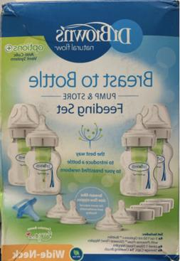 Dr. Brown's Breastfeeding Baby Bottles, Options+ Wide-Neck B