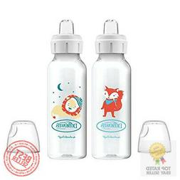 Dr. Brown's Options+ Sippy Spout Baby Bottles, Fox & Lion, 8