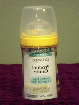 Playtex Drop-Ins System 4oz Yellow Nurser Baby Bottle +5 Lin