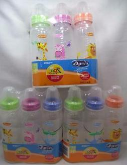 Even Flo Classic Zoo Friends Standard Baby Bottles 0-3M 8 oz