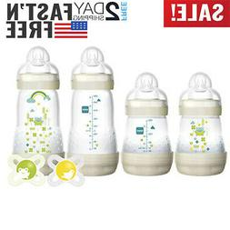MAM 6 Piece Feed and Soothe Bottle and Pacifier Gift Neutral
