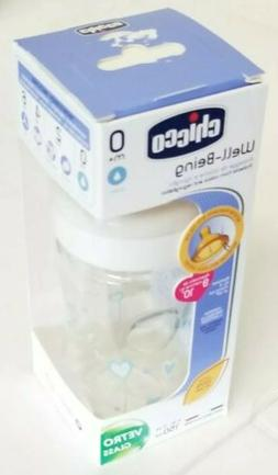 Chicco Feeding Bottle Well-Being 150ml Vetro Glass Decorated