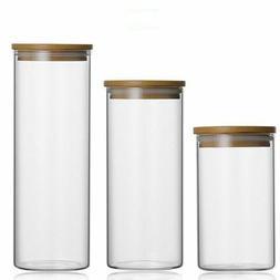 Food Storage Glass Jar No Lead Kitchen Storage Bottles Seale
