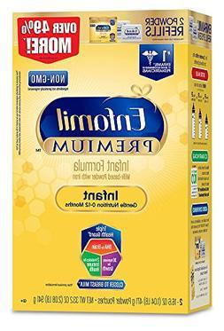 Enfamil Premium Infant Formula Refill Box, For Babies 0-12 M