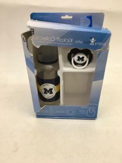 Baby Fanatic Gift Set University of Michigan Wolverines Bott