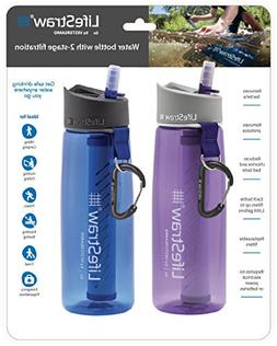 LifeStraw Go Water Filter Bottles with 2-Stage Integrated Fi